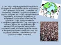 В 1994 році в Каїрі відбулася третя Всесвітня конференція по народонаселенню ...