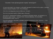 Основні типи розміщення чорної металургії: 1) чорна металургія, що працює на ...