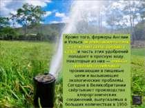 Кроме того, фермеры Англии и Уэльса ежегодно вносят в почву 2,5 млн тонн азот...