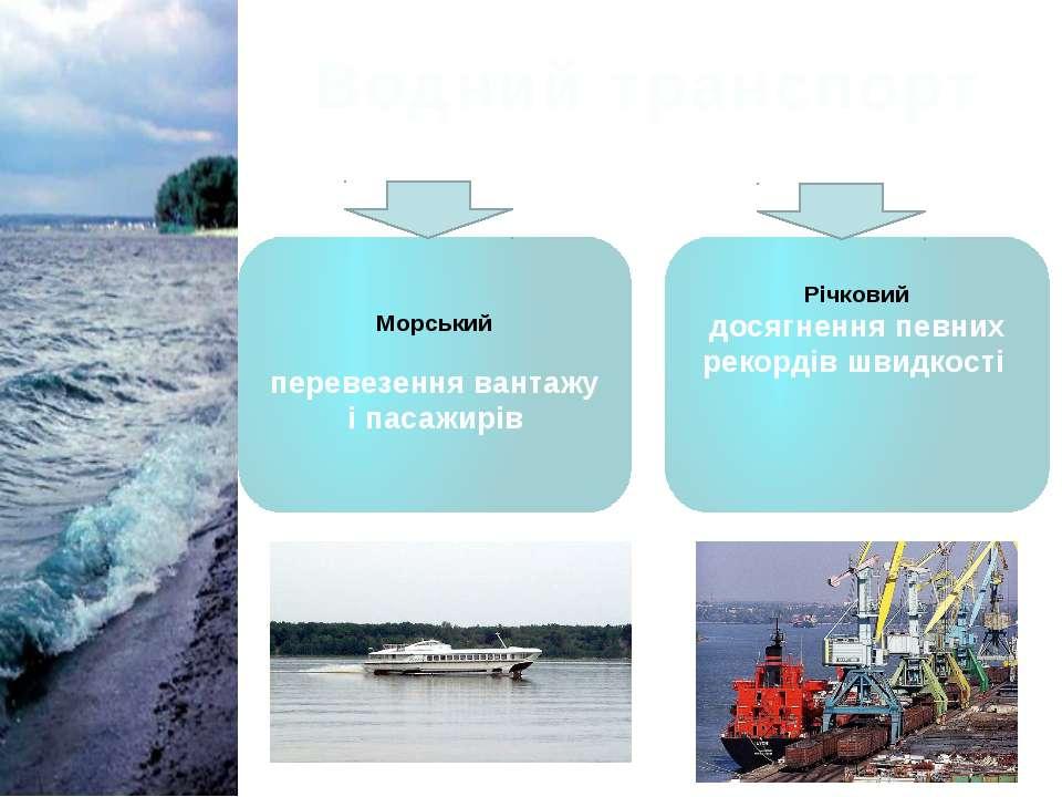 Водний транспорт Морський перевезення вантажу і пасажирів Річковий досягнення...