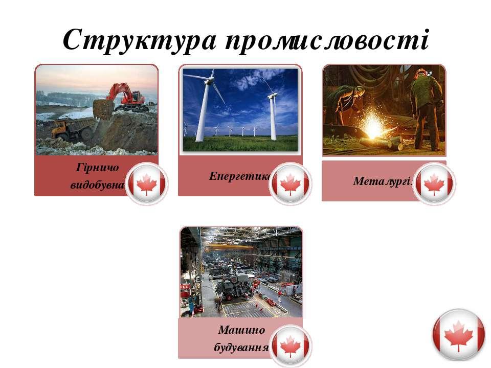 Гірничовидобувна промисловість Провідне місце у світі за видобутком і експорт...