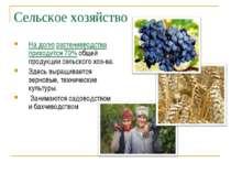 Сельское хозяйство На долю растениеводства приходится 70% общей продукции сел...