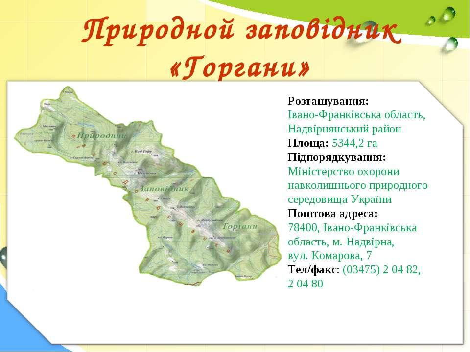 Природной заповідник «Горгани» Розташування: Івано-Франківська область, Надв...