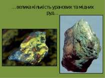 …велика кількість уранових та мідних руд…