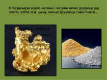 В Кордильєрах відомі численні і місцями великі родовища руд золота, срібла, м...