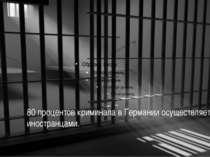 80 процентов криминала в Германии осуществляется иностранцами.
