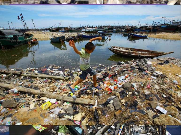 Есть несколько природных загрязнителей. Однако объём естественных загрязняющи...