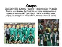 Спорт Збірна Нігерії з футболує однією з найсильніших у Африці. Багато нігер...