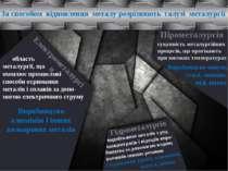 Суть усіх методів добування металів – відновлення металічного елемента. +n e-...