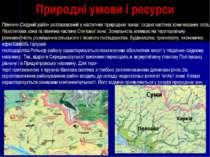 Природні умови і ресурси Північно-Східний район розташований у наступних прир...