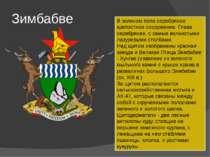 Зимбабве В зеленом поле серебряное крепостное сооружение. Глава серебряная, с...