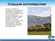 Сільське господарство Сільське господарство спеціалізується в основному на па...