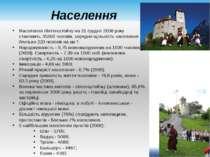 Населення Населення Ліхтенштейну на 31 грудня 2008 року становить 35360 чолов...