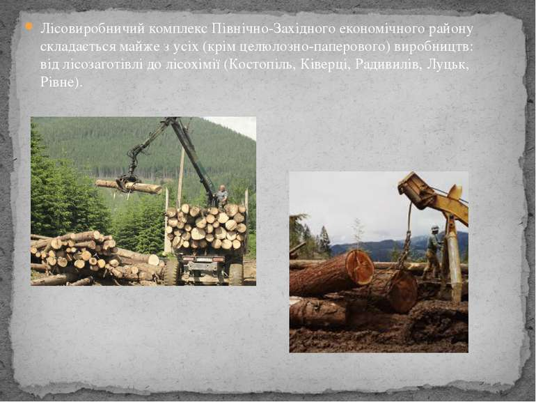 Лісовиробничий комплекс Північно-Західного економічного району складається ма...