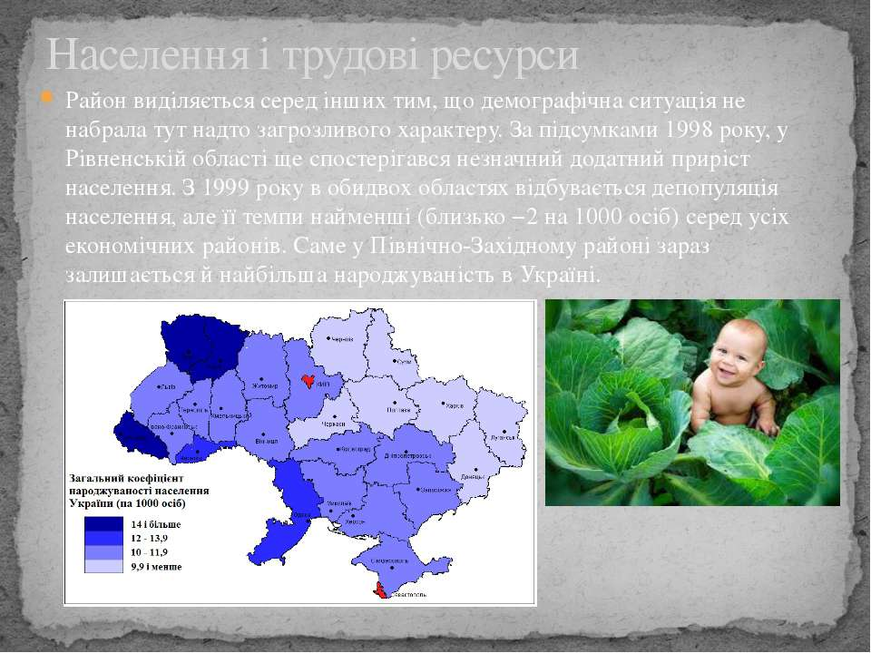 Район виділяється серед інших тим, що демографічна ситуація не набрала тут на...