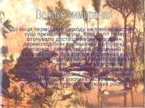 До кінця пермського періоду на північні масиви суші прийшла посуха. Краї болі...