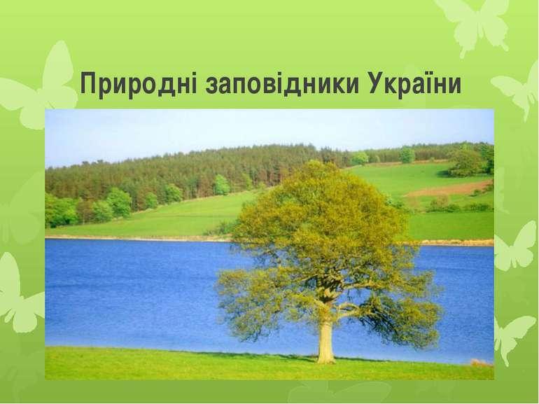 Природні заповідники України