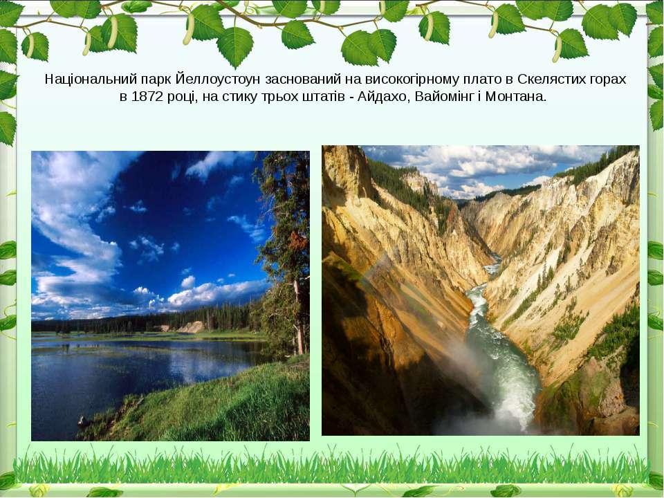 Національний парк Йеллоустоун заснований на високогірному плато в Скелястих г...