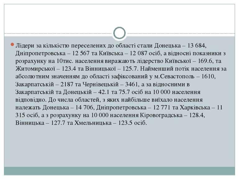 ... Лідери за кількістю переселених до області стали Донецька – 13 684 19efc385f7632
