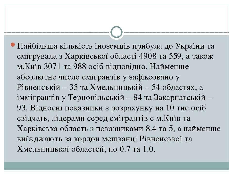 Найбільша кількість іноземців прибула до України та емігрувала з Харківської ...