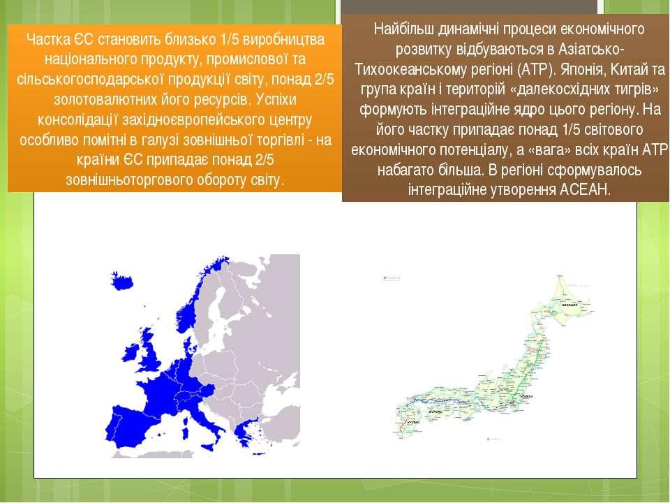 Частка ЄС становить близько 1/5 виробництва національного продукту, промислов...