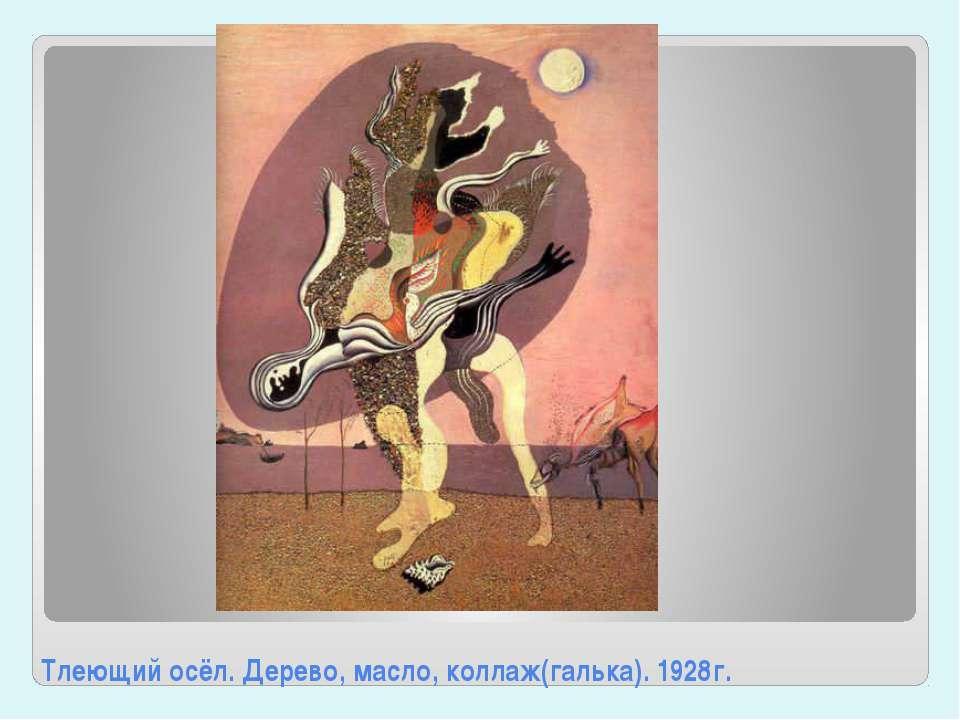 Тлеющий осёл. Дерево, масло, коллаж(галька). 1928г.