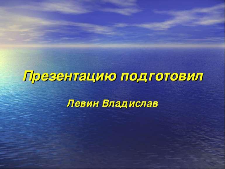 Презентацию подготовил Левин Владислав