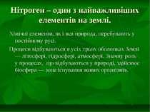 Нітроген – один з найважливіших елементів на землі. Хімічні елементи, як і вс...