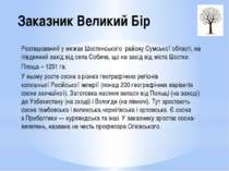 Заказник Великий Бір Розташований у межахШостинського районуСумської област...