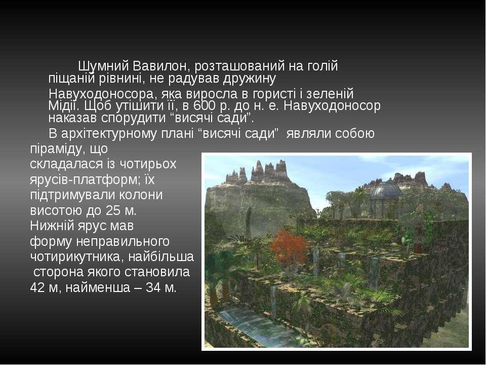 Шумний Вавилон, розташований на голій піщаній рівнині, не радував дружину Нав...