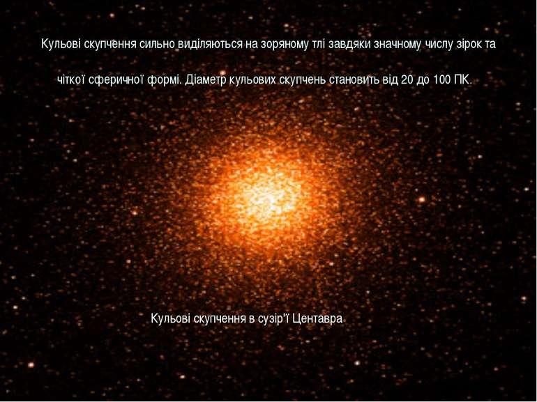 Кульові скупчення сильно виділяються на зоряному тлі завдяки значному числу з...