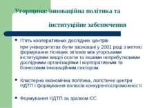 Угорщина: інноваційна політика та інституційне забезпечення П'ять кооперативн...