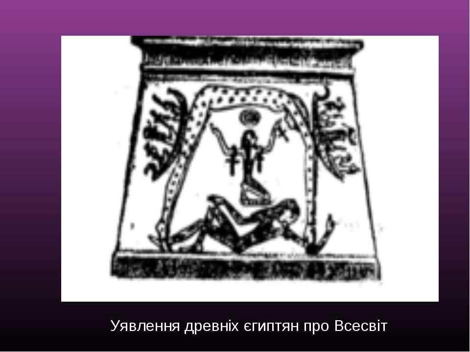 Уявлення древніх єгиптян про Всесвіт