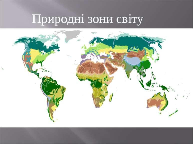 Природні зони світу