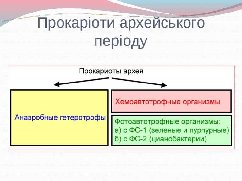 Прокаріоти архейського періоду