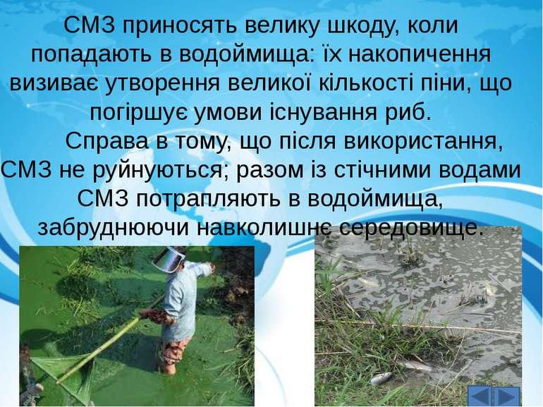 СМЗ приносять велику шкоду, коли попадають в водоймища: їх накопичення визива...