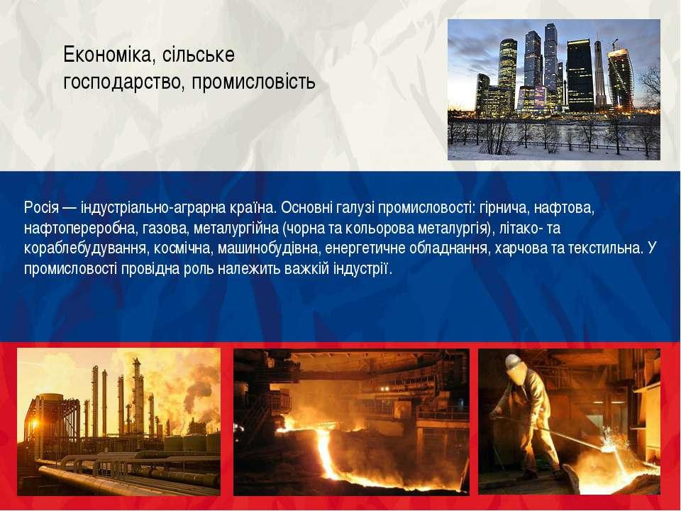 У РФ добувають усі види мінерального палива, а також більшість видів мінераль...
