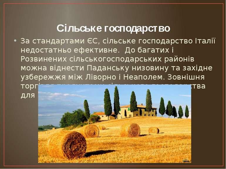 Сільське господарство За стандартами ЄС, сільське господарство Італії недоста...