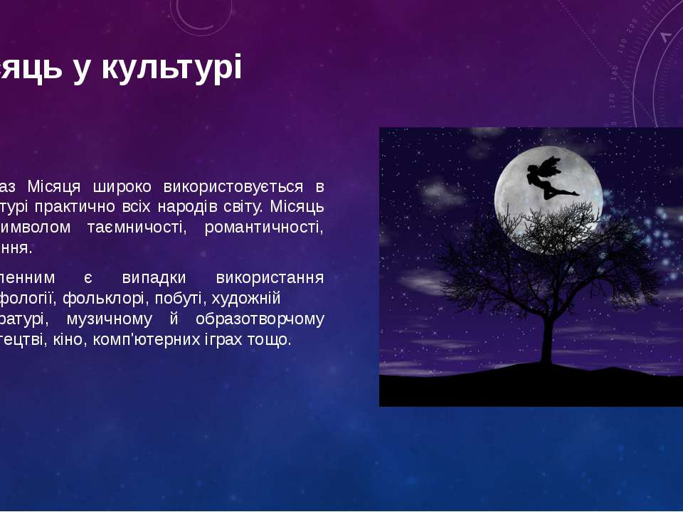 Образ Місяця широко використовується в культурі практично всіх народів світу....