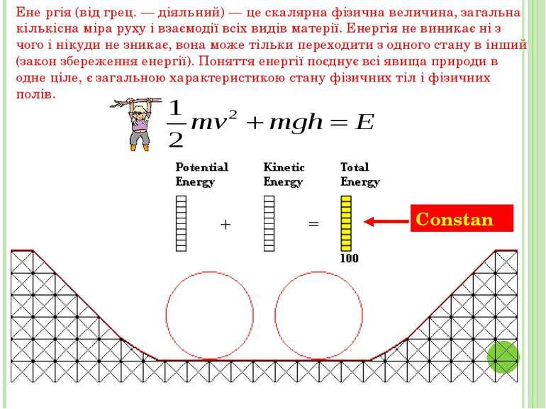Ене ргія (від грец. — діяльний) — це скалярна фізична величина, загальна кіль...
