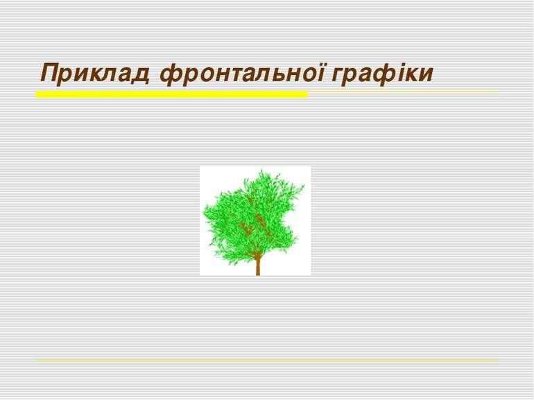 Приклад фронтальної графіки