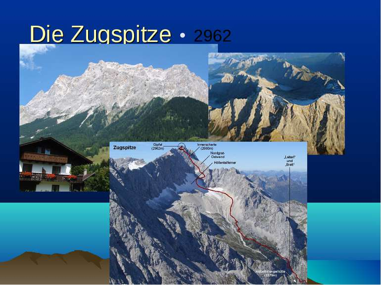 Die Zugspitze 2962 m