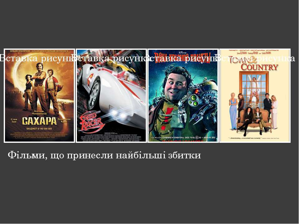 Фільми, що принесли найбільші збитки Надпись