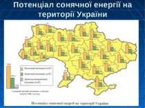 Потенціал сонячної енергії на території України