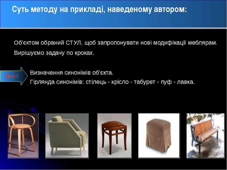 Суть методу на прикладі, наведеному автором: Визначення синонімів об'єкта. Гі...