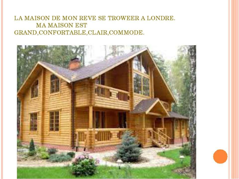 LA MAISON DE MON REVE SE TROWEER A LONDRE. MA MAISON EST GRAND,CONFORTABLE,CL...