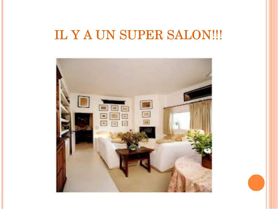 IL Y A UN SUPER SALON!!!