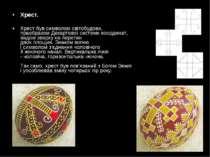 Хрест. Хрестбув символомсвітобудови, праобразомДекартовоїсистемикоордина...