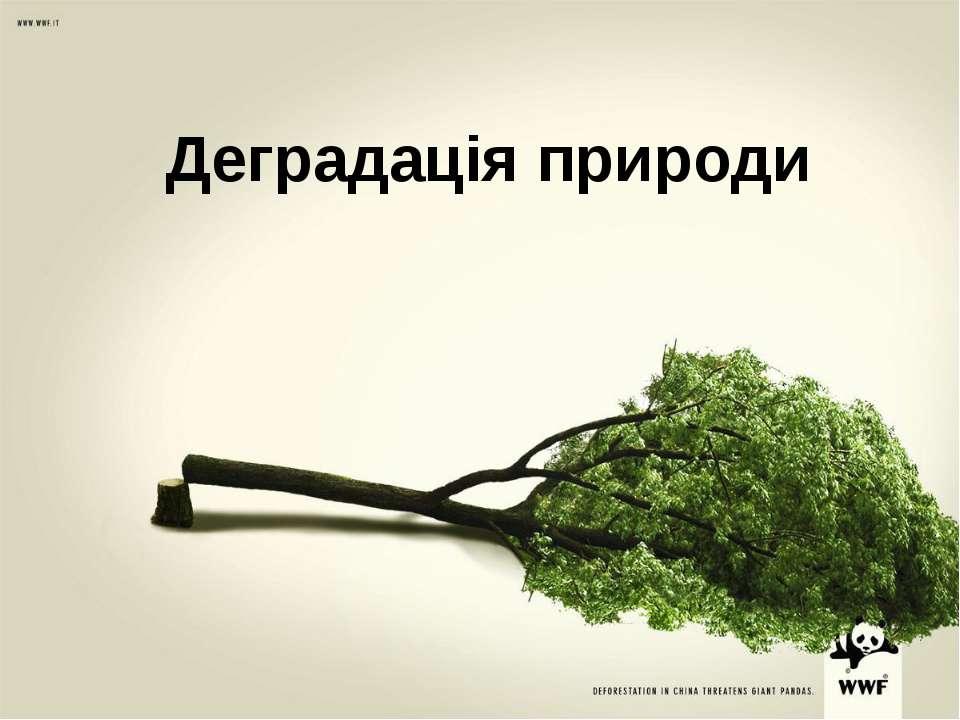 Деградація природи