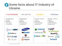 Some facts about IT Industry of Ukraine Copyright © 2007-2013 ALTEXSOFT * Cop...